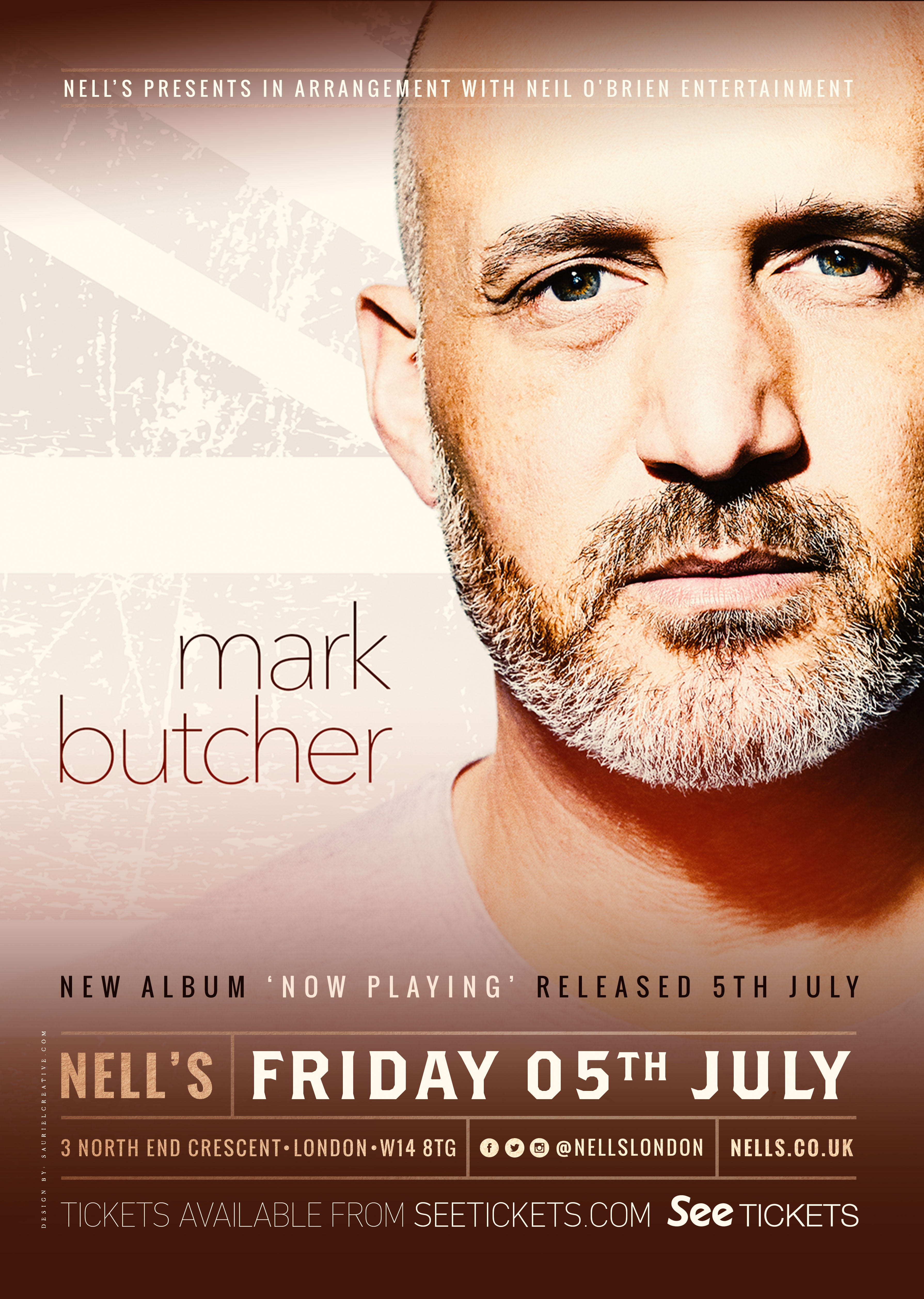 Mark Butcher 'Now Playing' album launch party - 5th July 2019